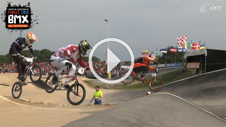réalisation live championnat Europe UEC BMX Erp