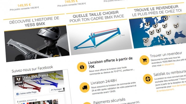 site internet e-commerce yess bmx france