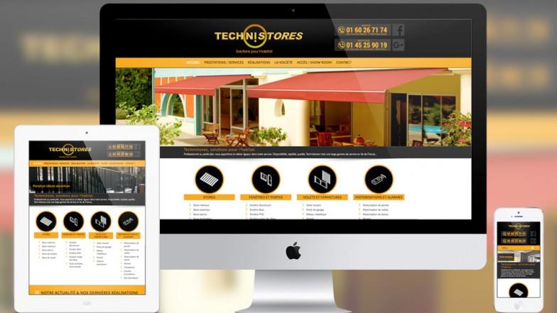technistores site internet réalisation